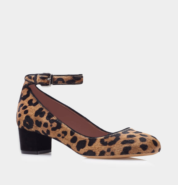 Martha Leopard Haircalf/Black Kidsuede