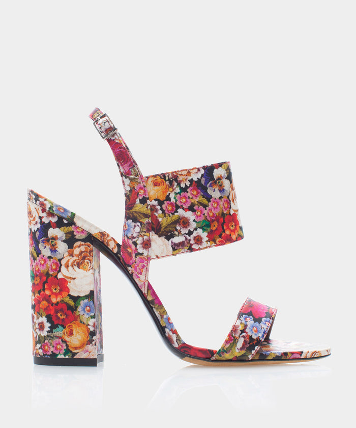 Senna Multi Tapestry Print Leather