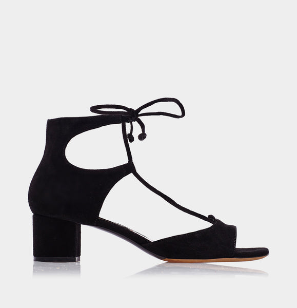 TALLIA BLACK SPLIT SUEDE
