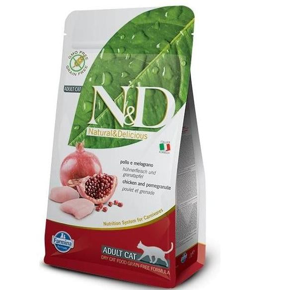 Farmina N&D Grain Free Chicken & Pomegranate Adult Cat Food - pet-club-india