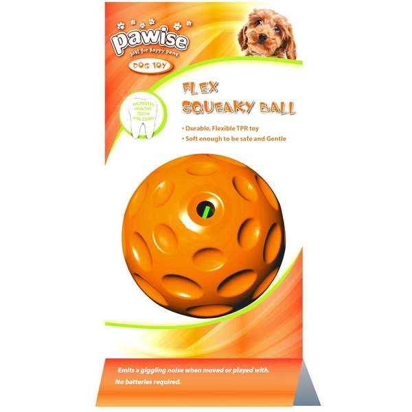 Pawise Flex Giggle Ball Dog Toys (9 cm Color May Vary) - pet-club-india