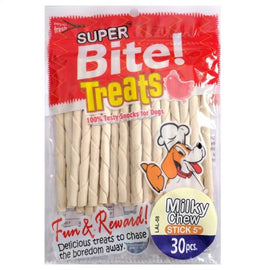 "Super Bite Milky Chew Stick 5"" Veg Dog Treat 30 pcs - pet-club-india"