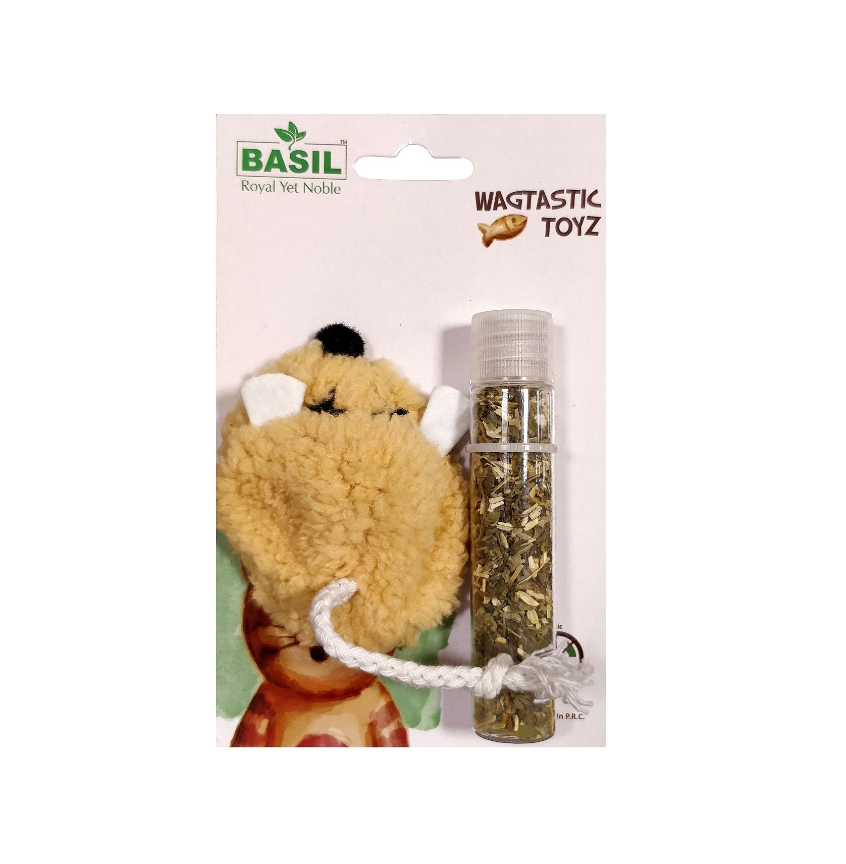Basil Refillable Catnip Cat Toy
