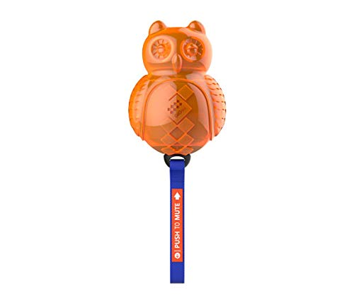 GiGWI Owl 'Push to Mute' Squeaky Chew Dog Toy (Blue/Orange 28 cm) - pet-club-india