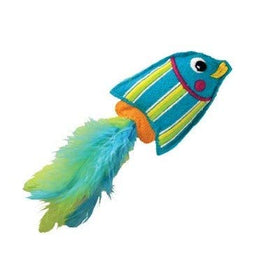 Kong Tropics Fish Blue Cat Toy - pet-club-india