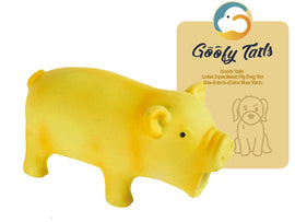 Goofy Tails Latex Squeakeez Pig Dog Toy (6 inch) - pet-club-india