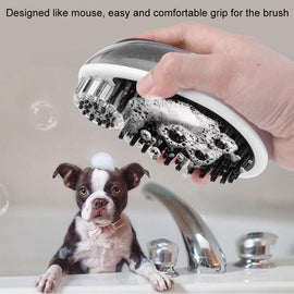 Goofy Tails Soap Dispenser with Grooming Brush for Dog/Cat - pet-club-india