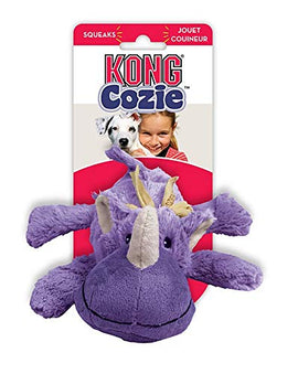 Kong Cozie Rosie the Rhino Squeaky Dog Toy,Medium - pet-club-india