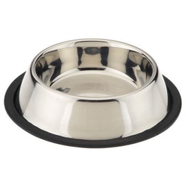 Goofy Tails Stainless Steel No Tip Regular Food Bowl for Dogs - pet-club-india