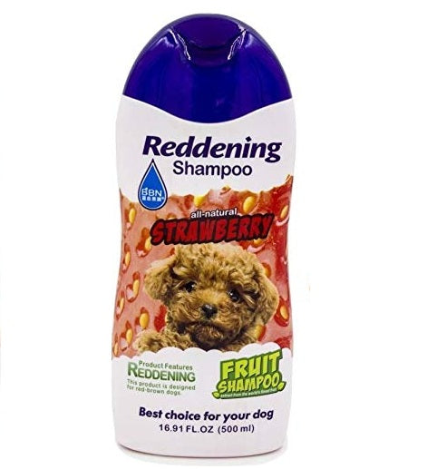 BBN All Natural Strawberry Fruit Reddening Dog Shampoo 500 ml - pet-club-india
