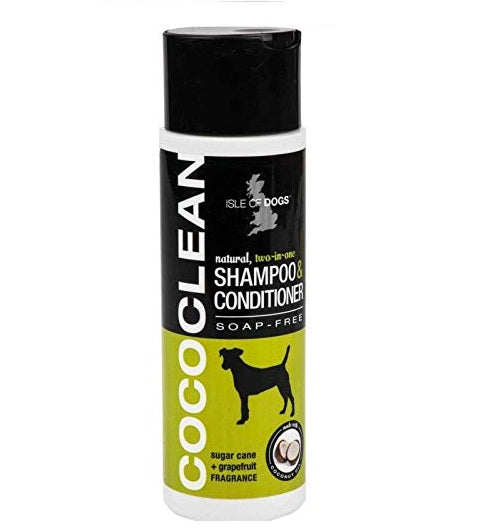 Isle of Dog CocoClean Natural Shampoo & Conditioner Dog Shampoo Sugarcane + Grapefruit 250 ml - pet-club-india