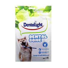 Gnawlers Dentalight Dental Mini Bone 60 pcs Veg. Dog Treat  (540 g) - pet-club-india