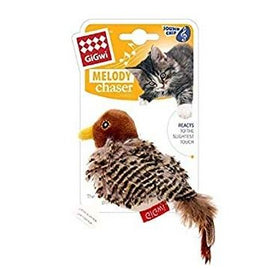 Gigwi Cricket Melody Bird W/Motion Sound Chip Cat Toy - pet-club-india