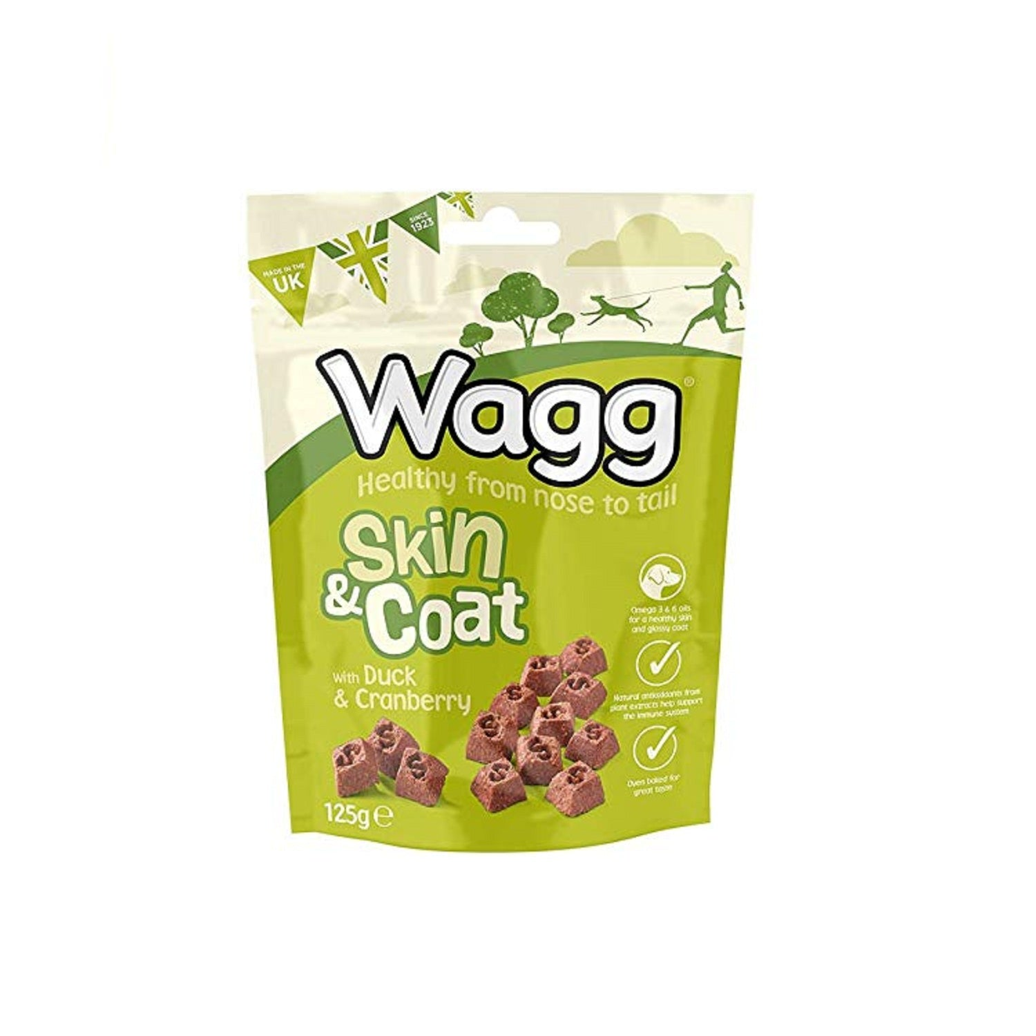 Wagg Skin & Coat Duck & Cranberry Dog Treats 125 g - pet-club-india