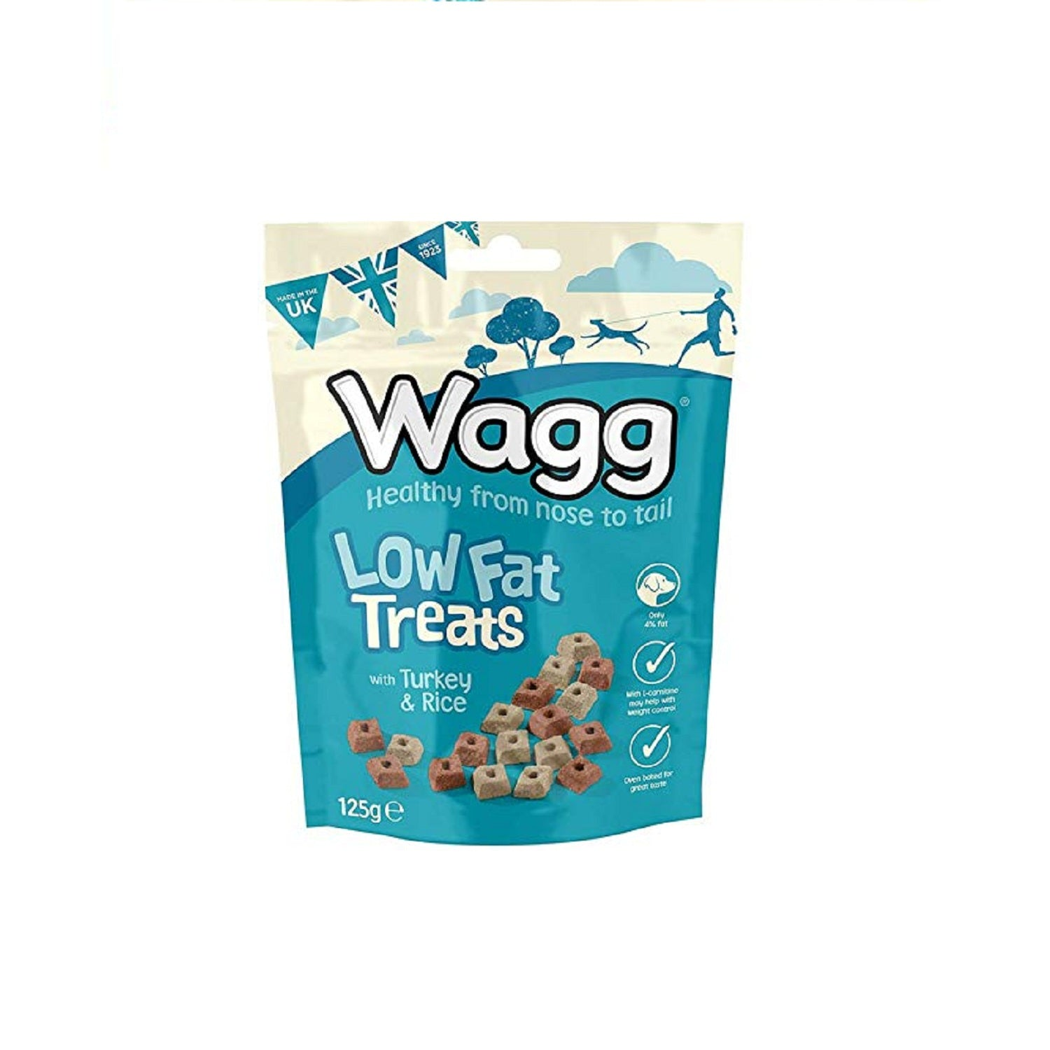 Wagg Low Fat Turkey & Rice Dog Treats 125 g - pet-club-india