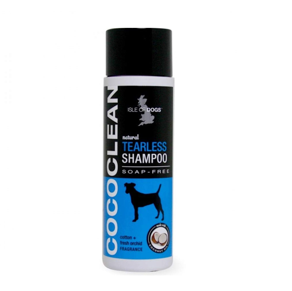 Isle of Dog CocoClean Natural Tearless  Dog Shampoo Cotton + Fresh Orchid 250 ml - pet-club-india