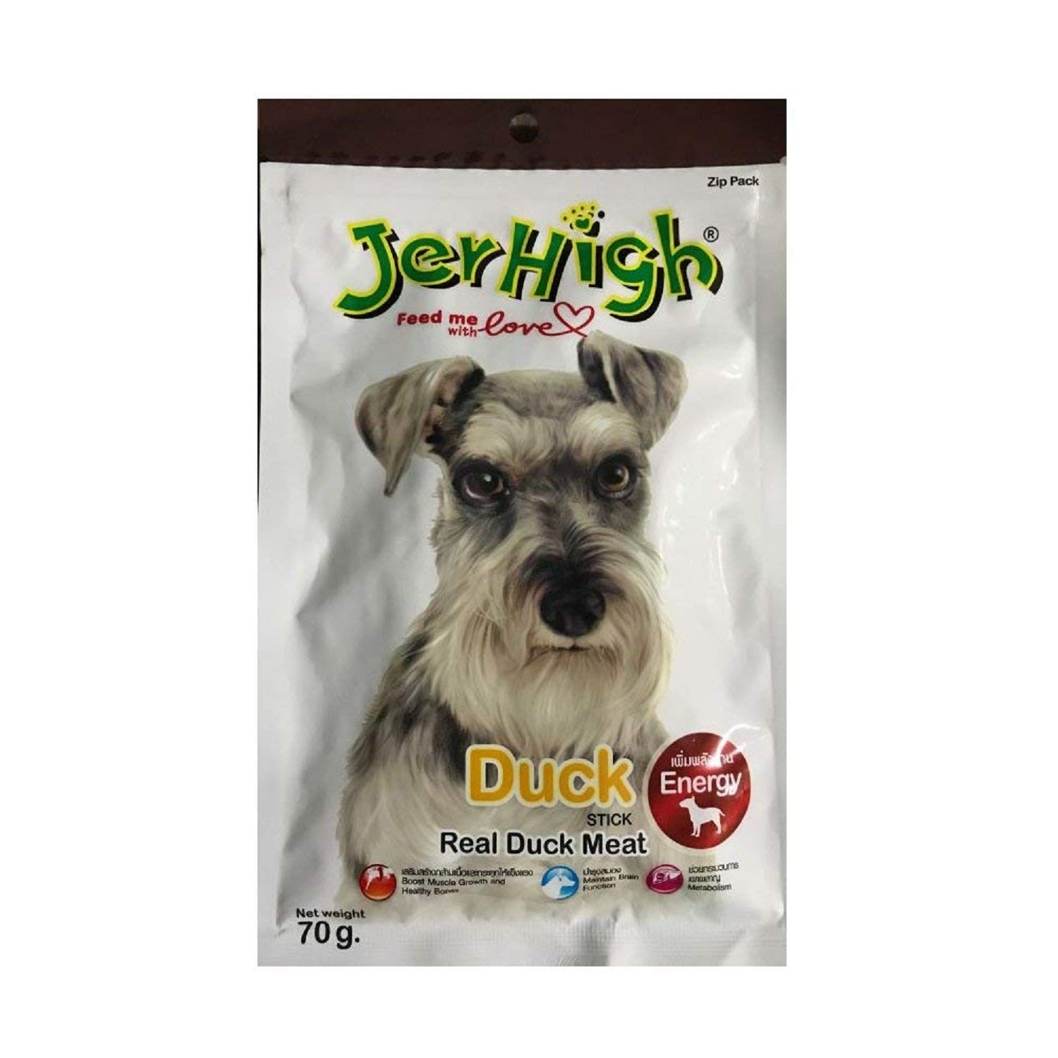 Jerhigh Duck Real Chicken Dog Treat 70 g - pet-club-india