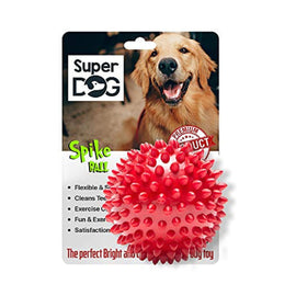 Super Dog Natural Rubber Medium Spiked Ball Dog Chew Toy - pet-club-india