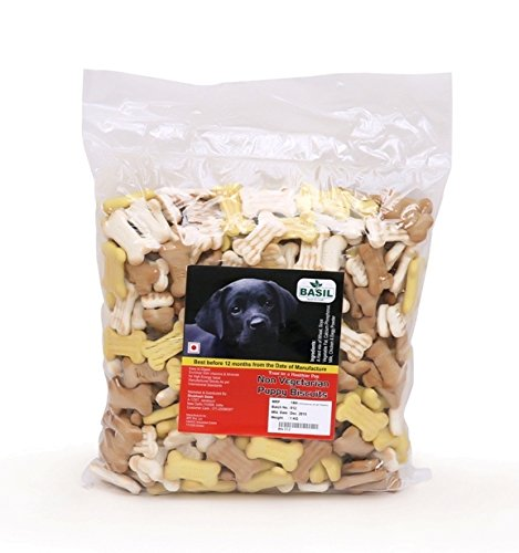 Basil Non Vegetarian Puppy Dog Biscuits 1 kg - pet-club-india