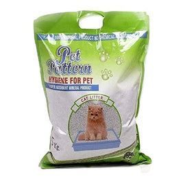 Pet Pattern Super Absorbent Mineral Cat Litter 5 kg with Scoop - pet-club-india