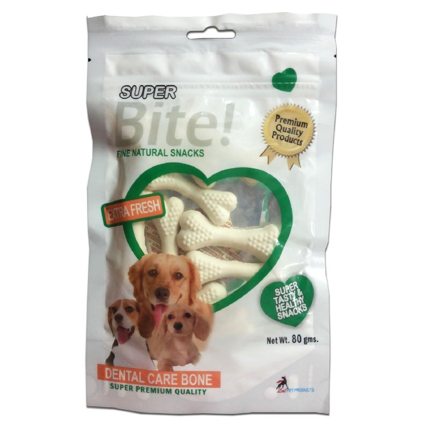 Super Bite Dental Care Bone Dog Treat 80 g - pet-club-india