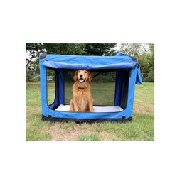 Goofy Tails Soft Foldable Indoor and Outdoor Dog Crate for Large Pets - pet-club-india