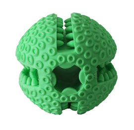 Basil Treat Dispenser Ball Rubber Chew Dog Toy - pet-club-india