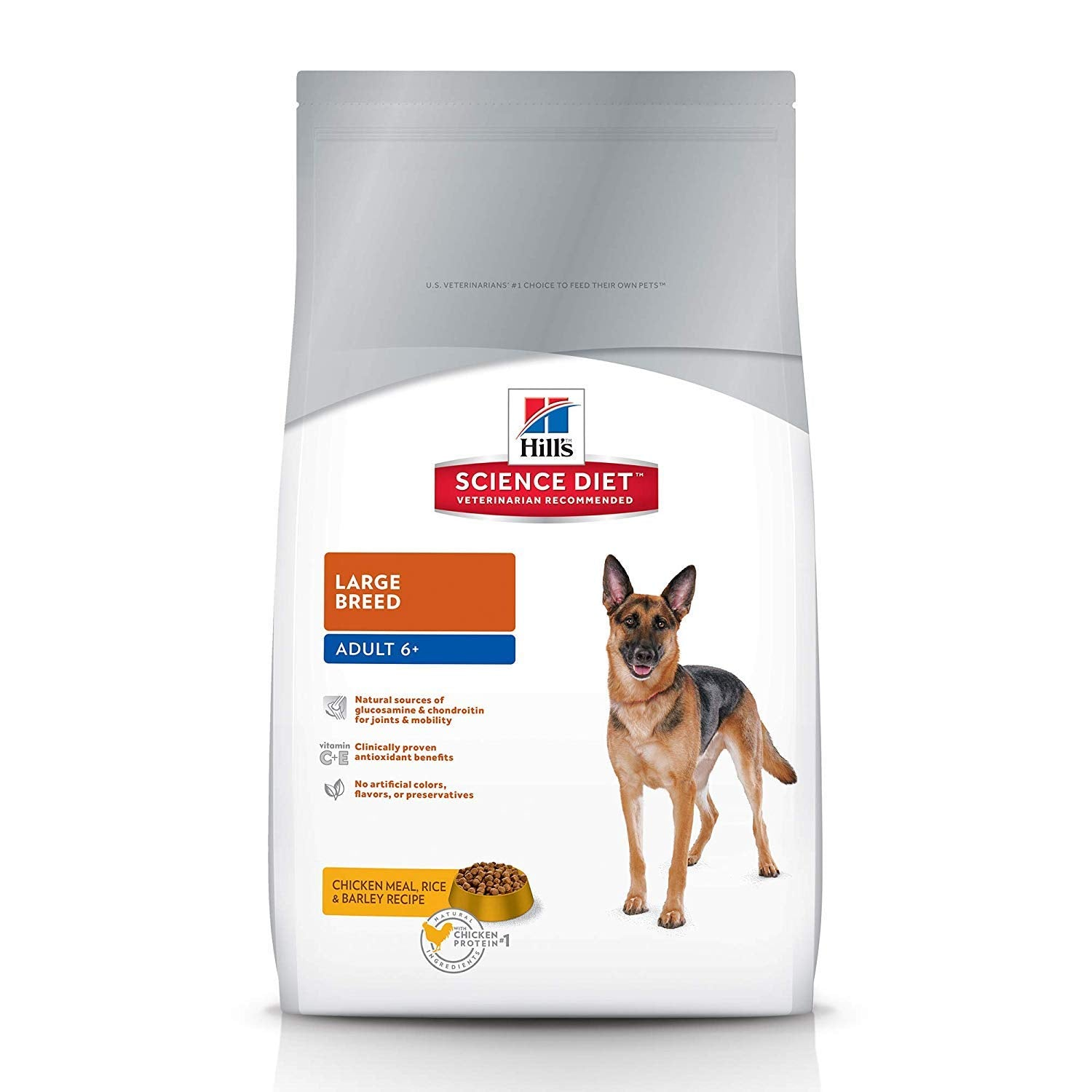 Hill's Science Diet Adult 6+ Large Breed, Chicken Meal Rice & Barley Recipe Dog Food 12 Kg - pet-club-india