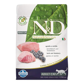Farmina N&D Grain Free Lamb and Blueberry Adult Cat Food - pet-club-india