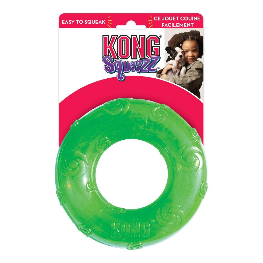 Kong Squeezz Ring Medium Dog Toy - pet-club-india