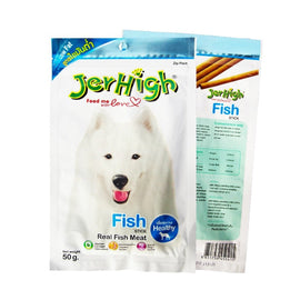 Jerhigh Real Fish Meat Stick Healthy Dog Treats 50 g - pet-club-india
