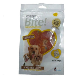 Super Bite Chicken Chips Dog Treats 70 gm - pet-club-india