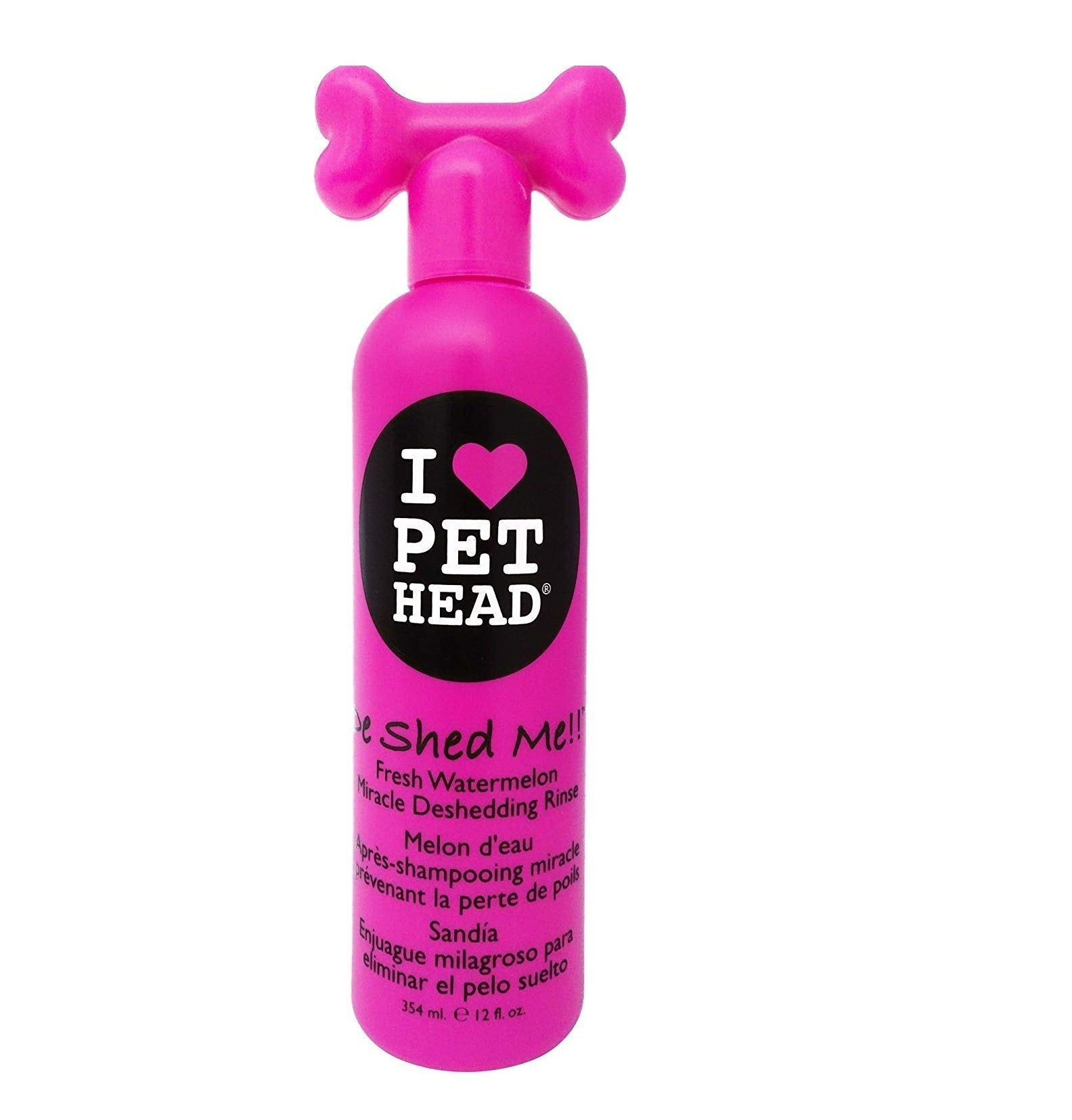 Pet Head De Shed Me Miracle Watermelon Rinse Dog Shampoo 354 ml - pet-club-india