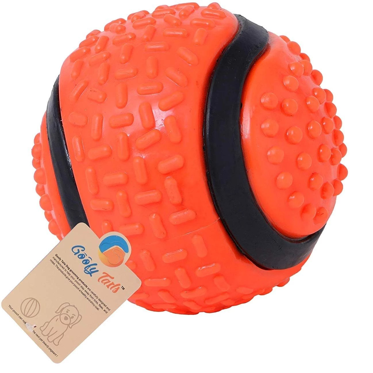 Goofy Tails Big Rubber Durable Ball for Adult Dogs