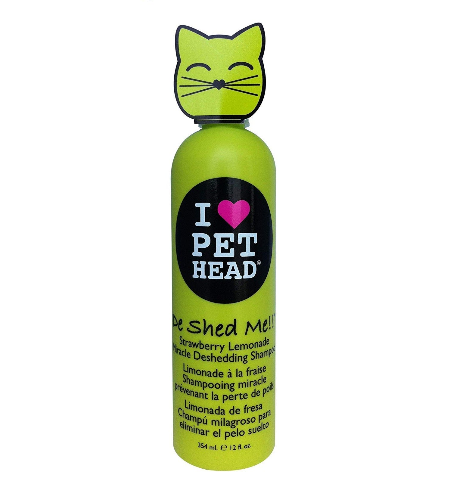 Pet Head De Shed Me Strawberry Lemonade Cat Shampoo 354 ml - pet-club-india