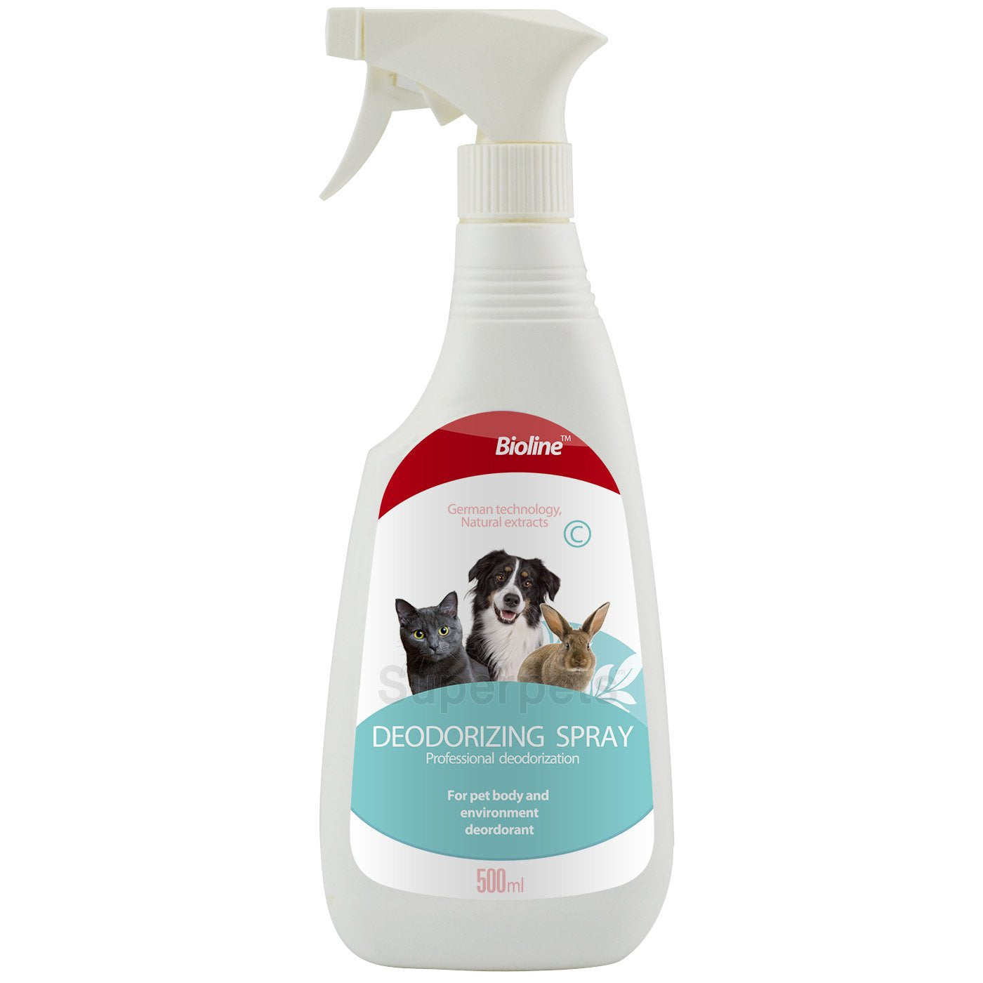 Bioline Professional Deodorizing Spray for Dog and Cats 500ml - pet-club-india