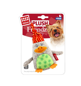 GiGwi 'Plush Friendz' Duck Squeaky Dog Toy - pet-club-india