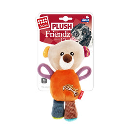 GiGwi 'Plush Friendz' Bear Squeaky Dog Toy - pet-club-india