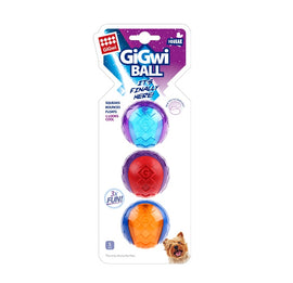Gigwi Squeaky Rubber Small Ball Dog Toy (Pack of 3) - pet-club-india