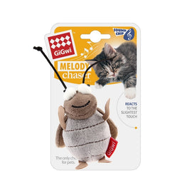Gigwi Cricket Melody Chaser W/Motion Activated Sound Chip Cat Toy - pet-club-india