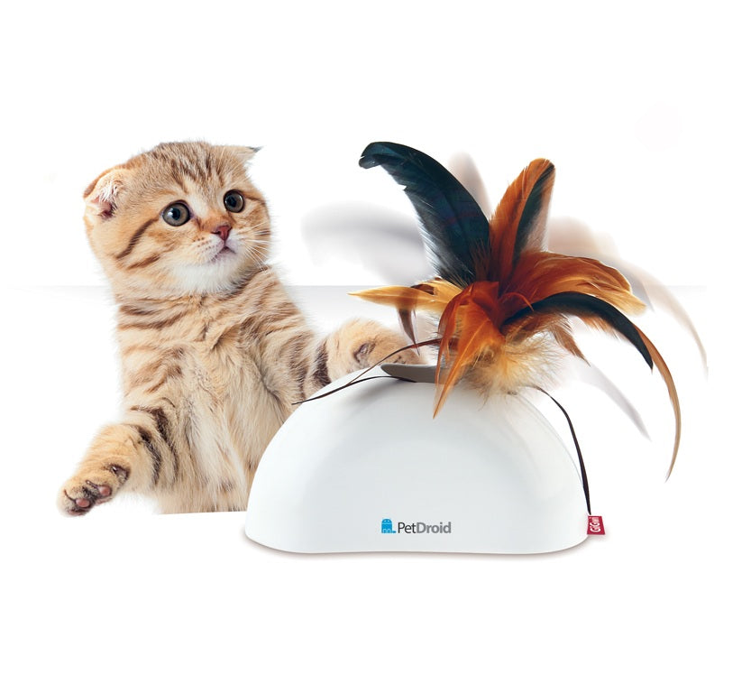 Gigwi Pet Droid Feather Hider with Sound Chip Cat Toy - pet-club-india