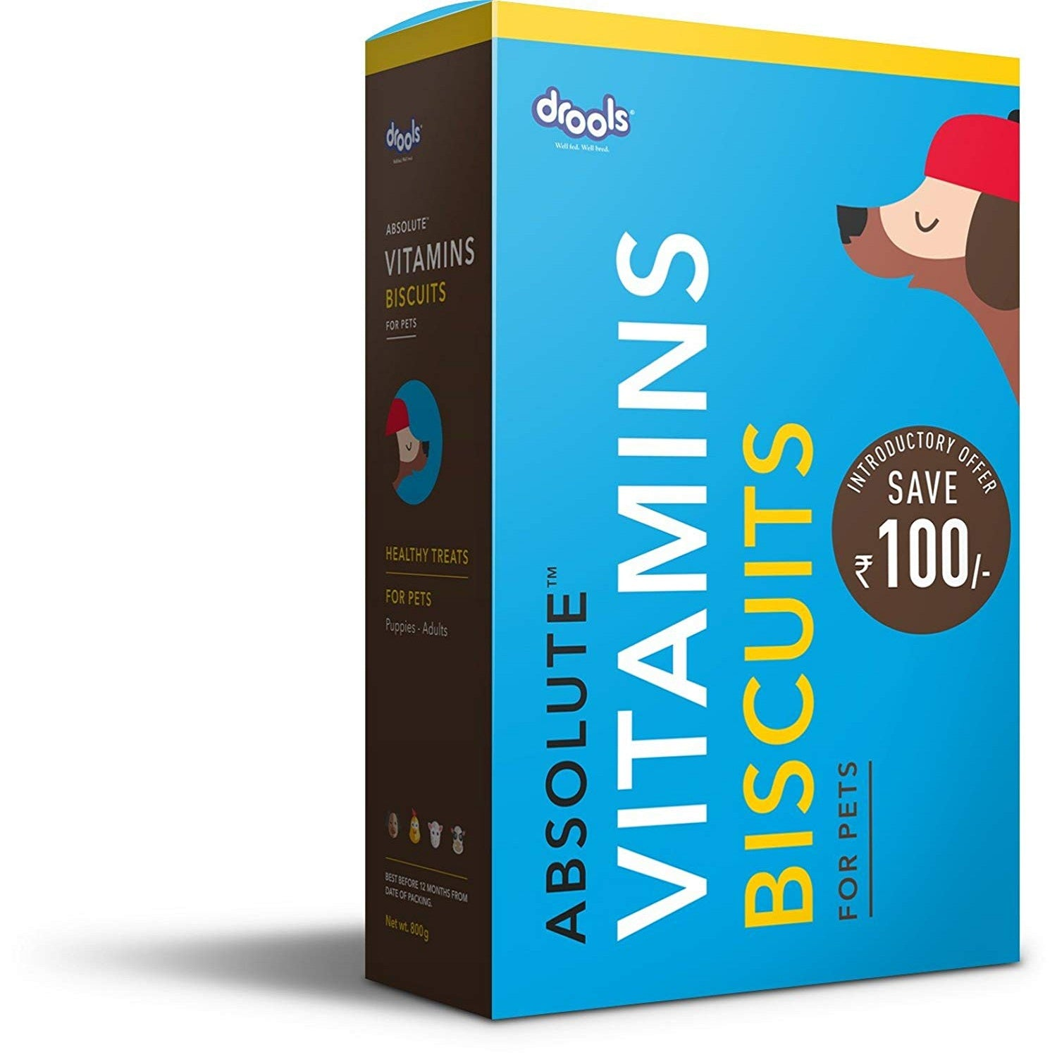Drools Absolute Vitamin Biscuits for Dogs 800 g - pet-club-india