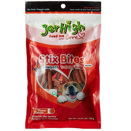 Jerhigh Real Chicken Stix Bites Dog Treat 100 g - pet-club-india