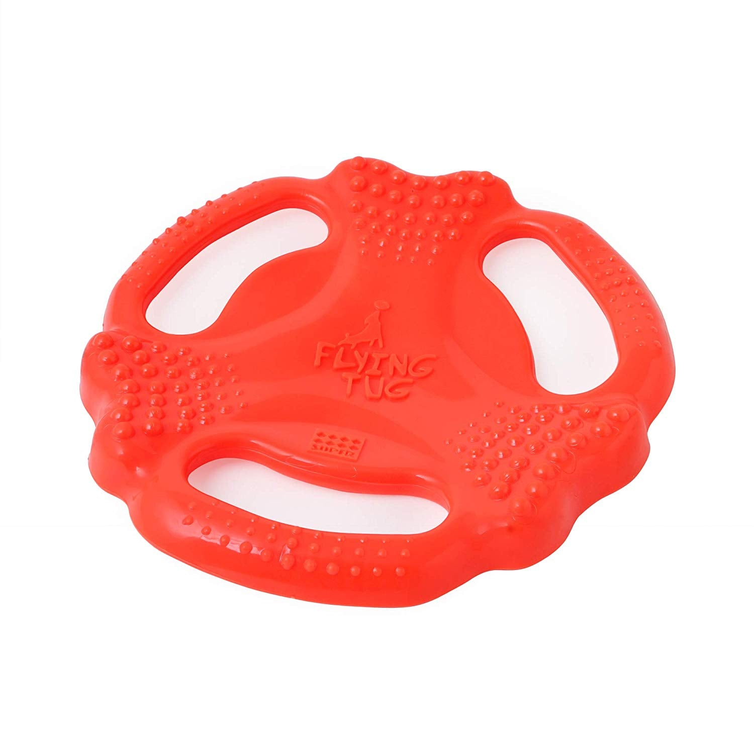 Super Dog Orange Colored Flying Tug Dog Toy - pet-club-india