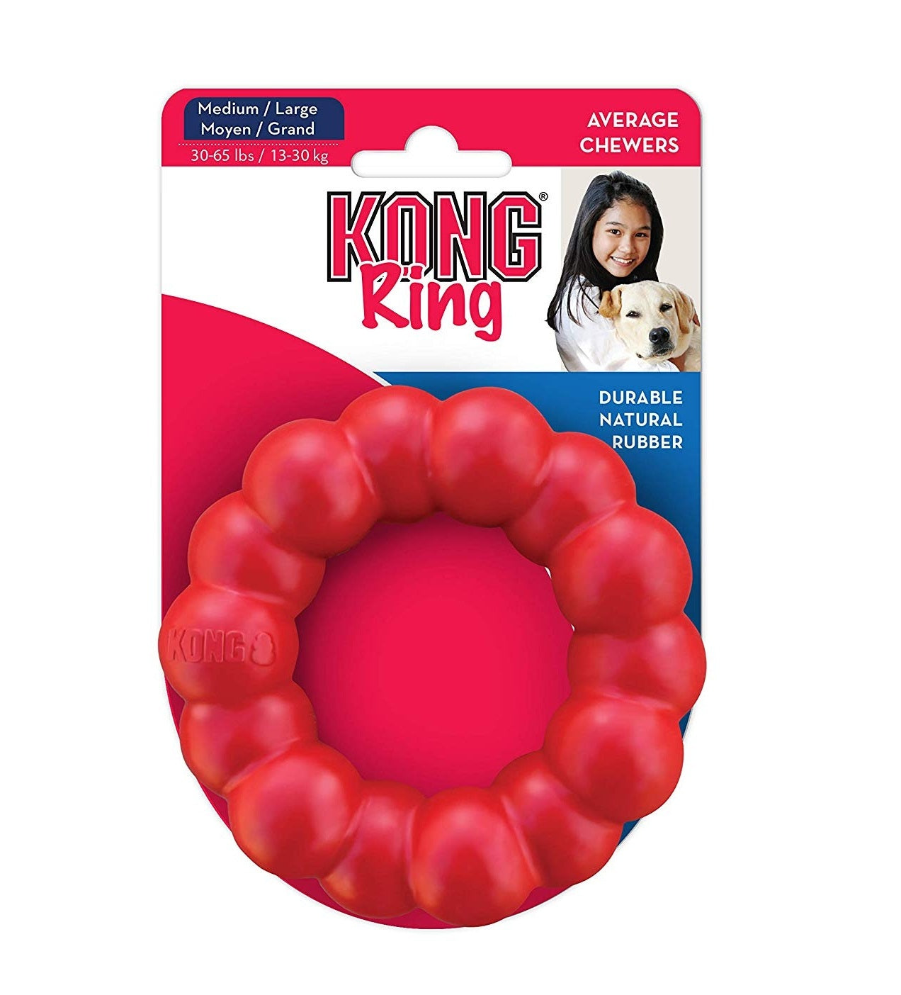Kong Ring Durable Natural Rubber Chew Dog Toy - pet-club-india
