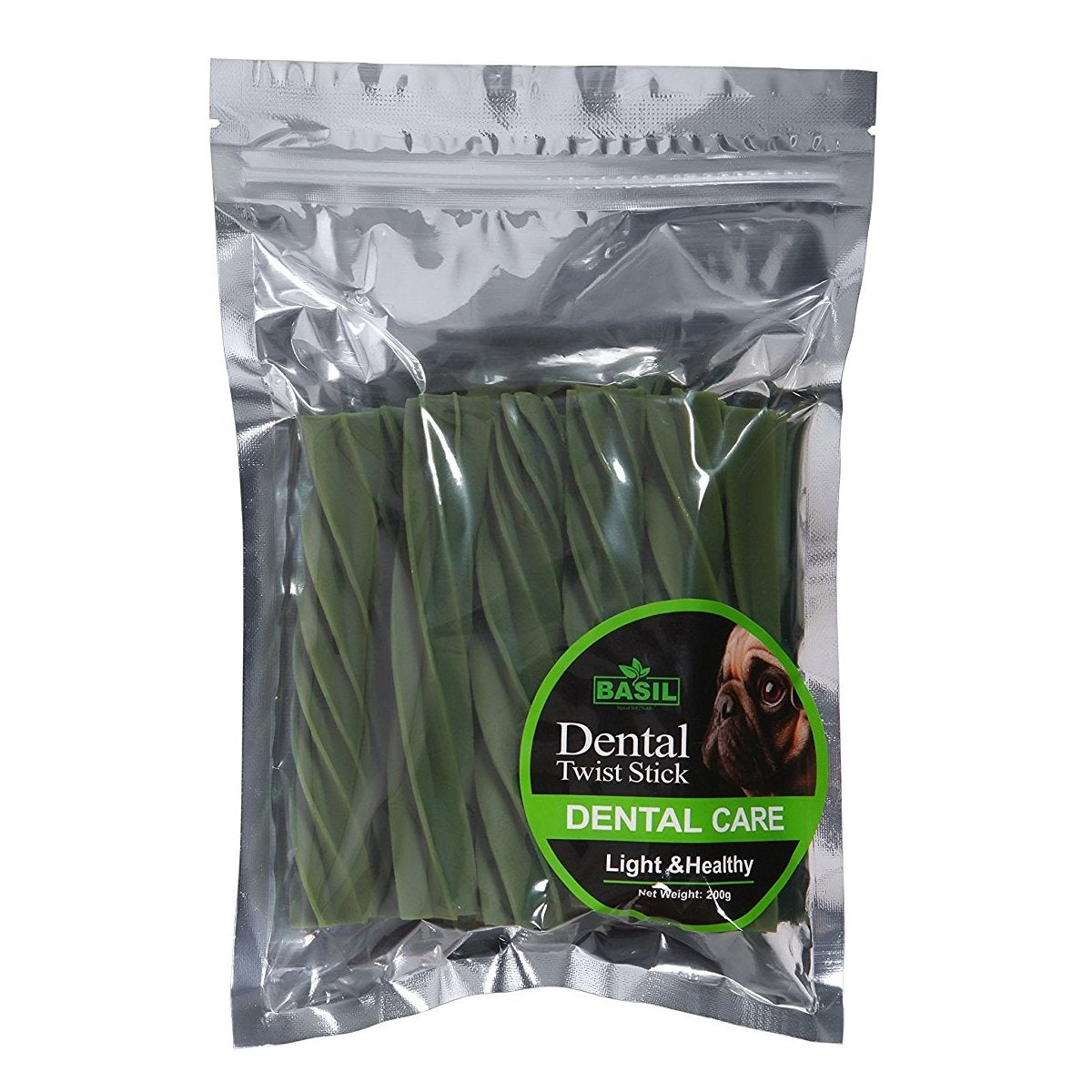 Basil Dental Care Dog Twist Stick 200 gm - pet-club-india