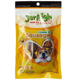 Jerhigh Cheese, Sausage & Real Chicken Dog Treat 100 g - pet-club-india