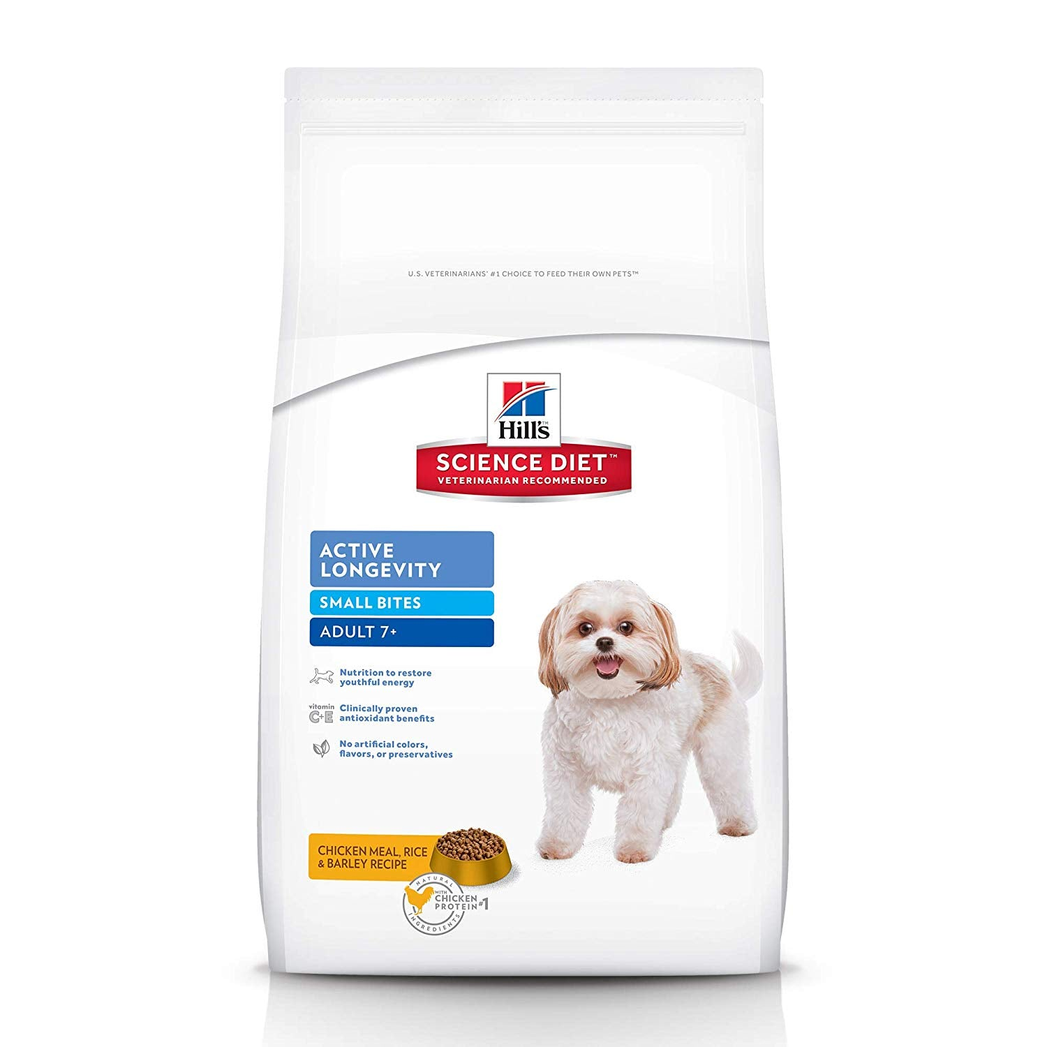 Hill's Science Diet Adult 7+ Active Longevity Small Bite Chicken Meal Rice & Barley Dog Food 2 Kg - pet-club-india
