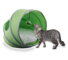 Pawise Fold-able Indoor Outdoor Pop Up Cat House Tent - pet-club-india