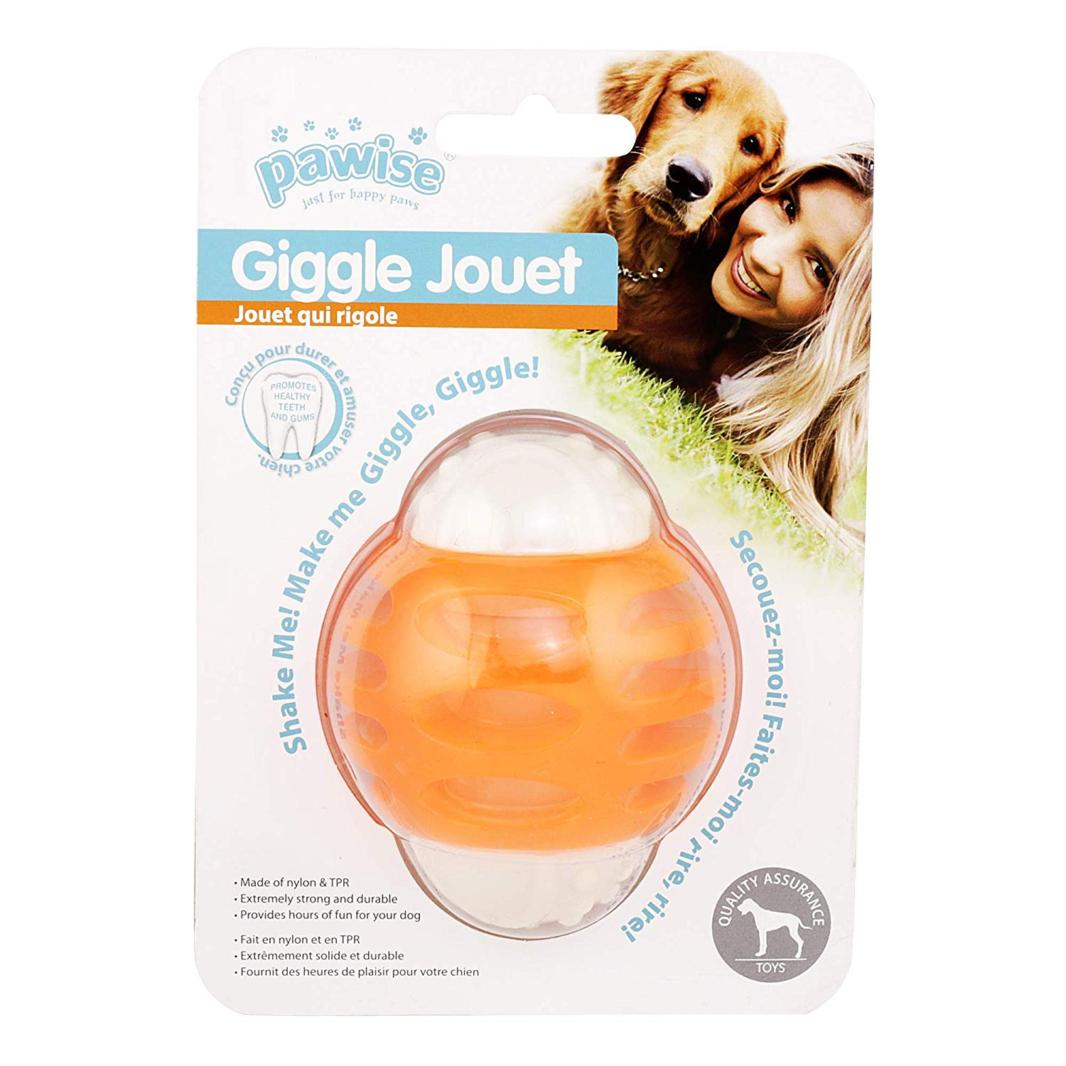 Pawise Giggle Jouet Ball Dog Toy (8 cm) - pet-club-india